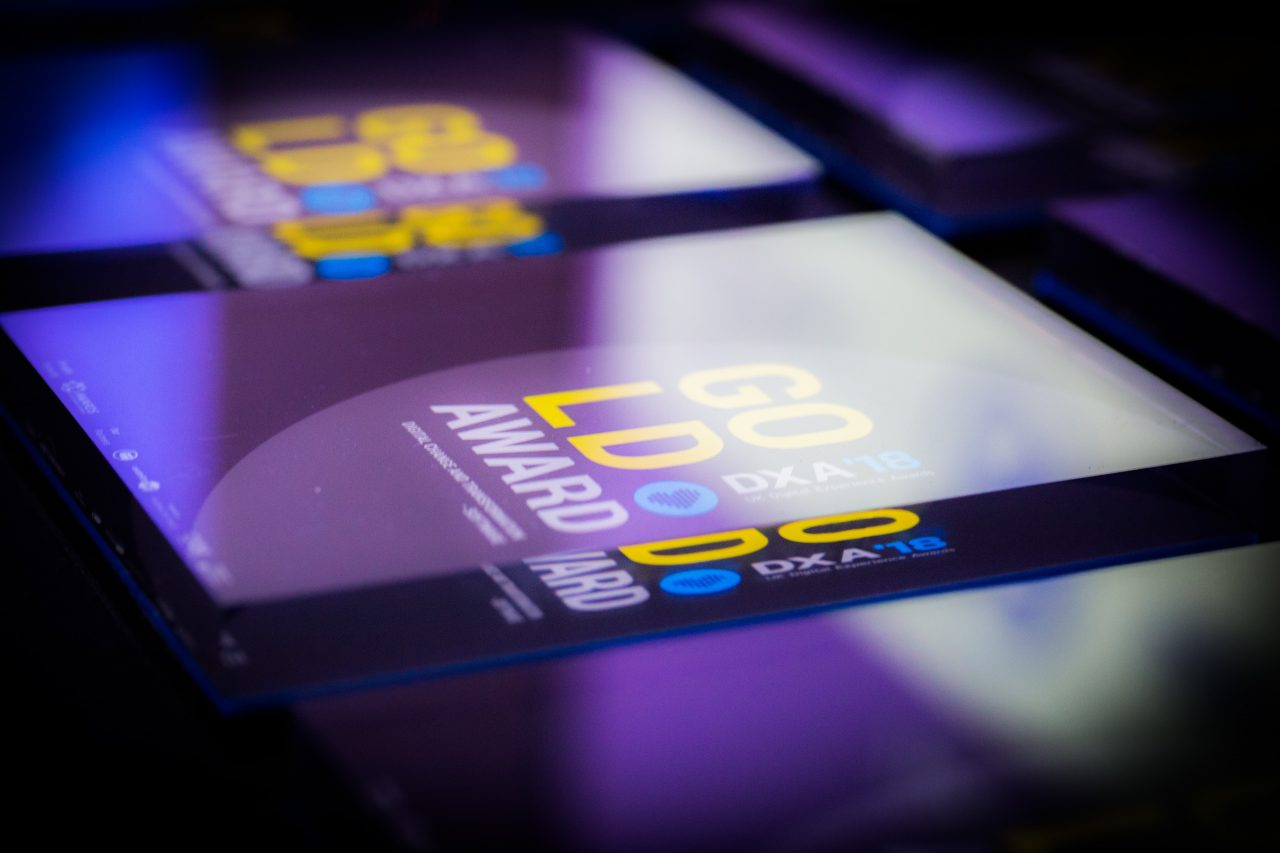 UK Digital Experience Awards trophy - finalists announced